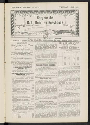 Bergensche bad-, duin- en boschbode 1922-07-01