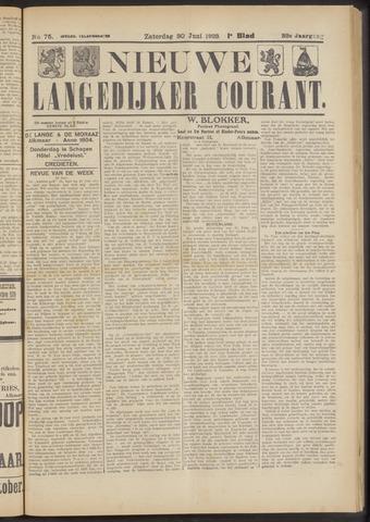 Nieuwe Langedijker Courant 1923-06-30