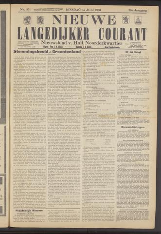 Nieuwe Langedijker Courant 1930-07-15