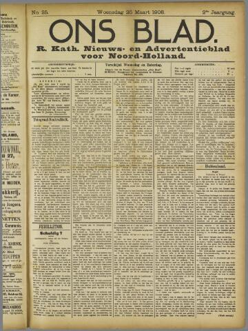 Ons Blad : katholiek nieuwsblad voor N-H 1908-03-25