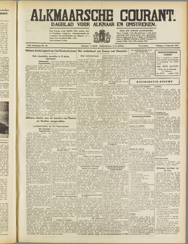 Alkmaarsche Courant 1941-02-14