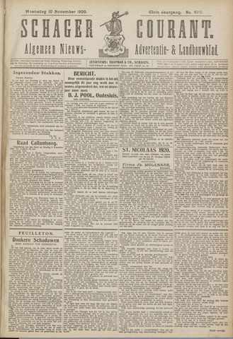 Schager Courant 1920-11-10