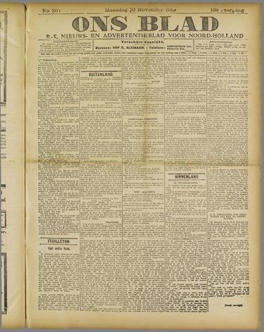Ons Blad : katholiek nieuwsblad voor N-H 1919-11-10