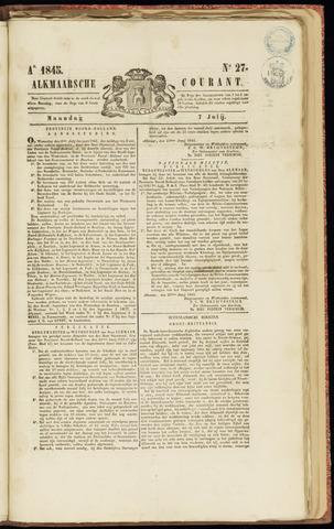 Alkmaarsche Courant 1845-07-07