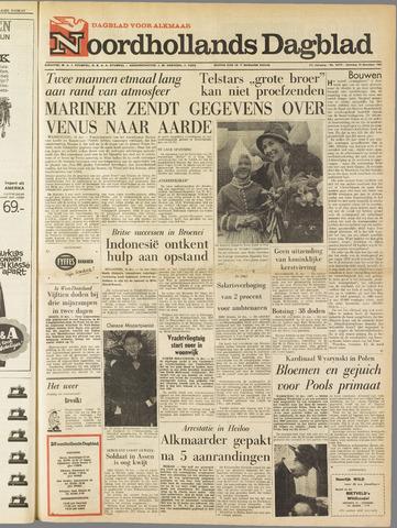 Noordhollands Dagblad : dagblad voor Alkmaar en omgeving 1962-12-15