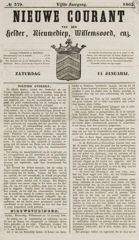 Nieuwe Courant van Den Helder 1865-01-14