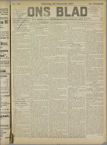 Ons Blad : katholiek nieuwsblad voor N-H 1917-12-29