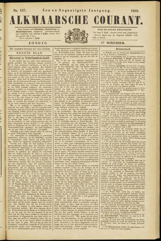 Alkmaarsche Courant 1889-11-17