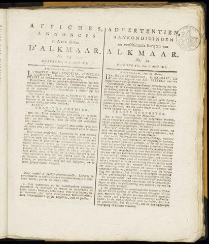 Alkmaarsche Courant 1812-04-01