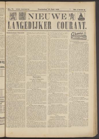 Nieuwe Langedijker Courant 1925-06-18