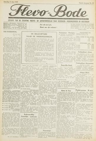 Flevo-bode: nieuwsblad voor Wieringen-Wieringermeer 1949-06-11