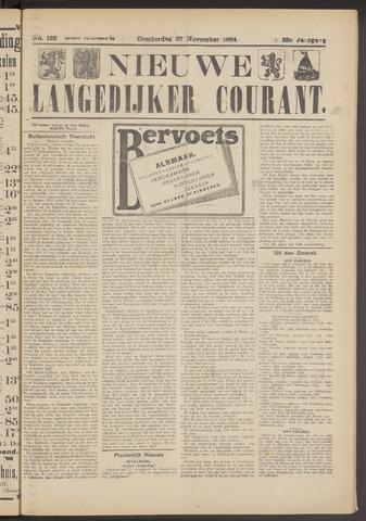 Nieuwe Langedijker Courant 1924-11-27