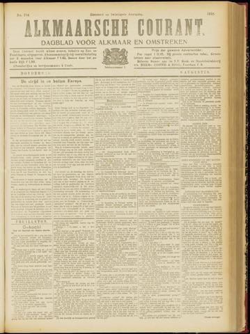 Alkmaarsche Courant 1918-08-08