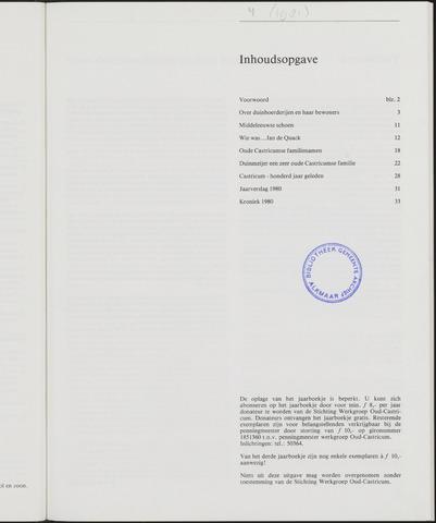 Jaarboek Oud Castricum 1981-11-01