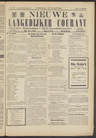 Nieuwe Langedijker Courant 1933-03-25