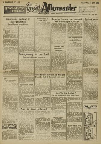 De Vrije Alkmaarder 1949-01-17