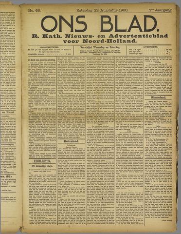 Ons Blad : katholiek nieuwsblad voor N-H 1908-08-22