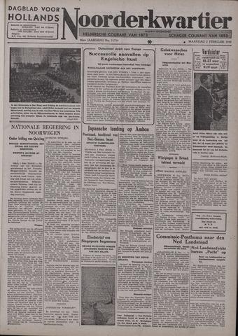 Dagblad voor Hollands Noorderkwartier 1942-02-02