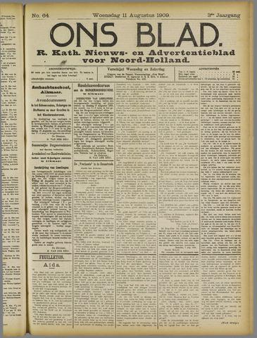 Ons Blad : katholiek nieuwsblad voor N-H 1909-08-11