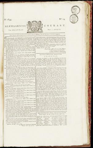Alkmaarsche Courant 1834-04-07