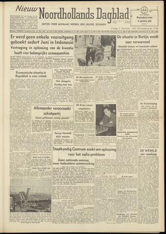 Nieuw Noordhollandsch Dagblad : voor Alkmaar en omgeving 1948-12-03