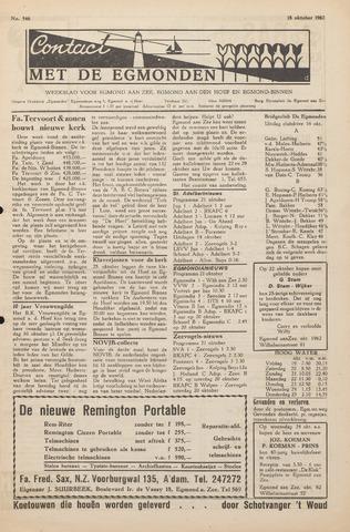 Contact met de Egmonden 1962-10-18
