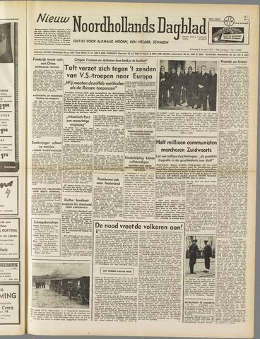 Nieuw Noordhollandsch Dagblad : voor Alkmaar en omgeving 1951-01-06