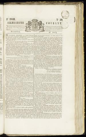 Alkmaarsche Courant 1840-07-27