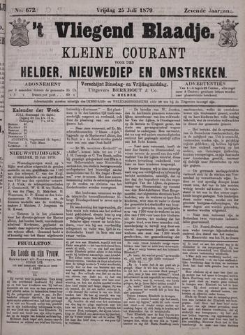 Vliegend blaadje : nieuws- en advertentiebode voor Den Helder 1879-07-25