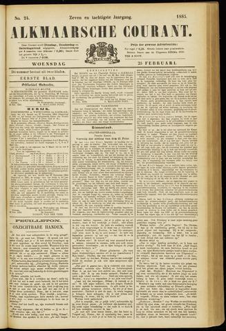 Alkmaarsche Courant 1885-02-25