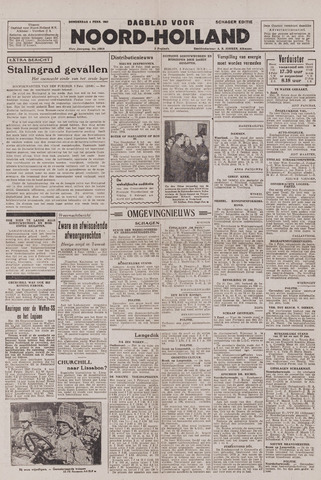 Dagblad Noord-Holland, Schager editie 1943-02-04