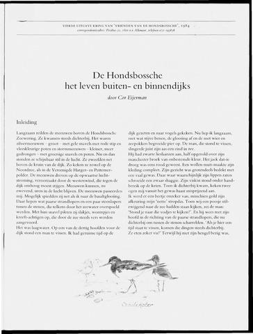 Uitgave Kring van Vrienden van de Hondsbossche 1984