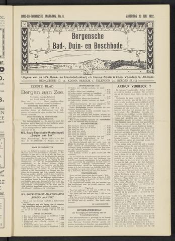 Bergensche bad-, duin- en boschbode 1932-07-23