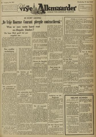 De Vrije Alkmaarder 1947-04-10
