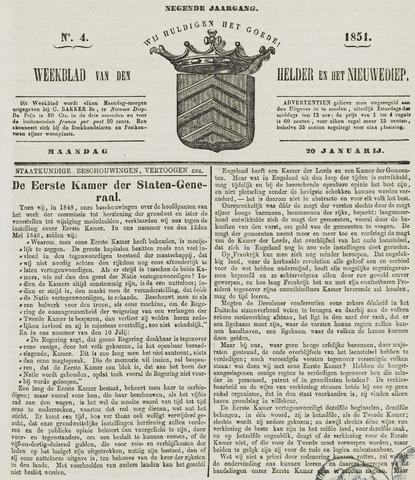 Weekblad van Den Helder en het Nieuwediep 1851-01-20