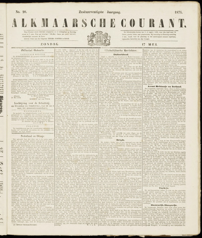 Alkmaarsche Courant 1874-05-17