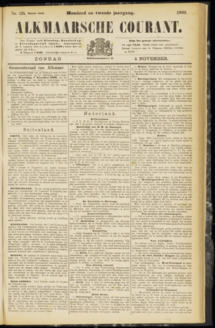 Alkmaarsche Courant 1900-11-04
