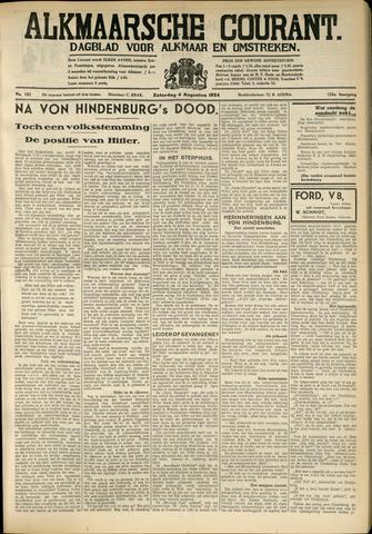 Alkmaarsche Courant 1934-08-04