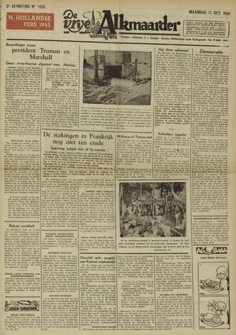 De Vrije Alkmaarder 1948-10-11