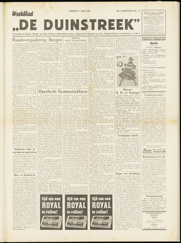 De Duinstreek 1961-07-07