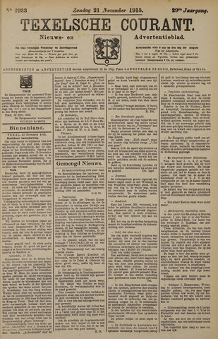 Texelsche Courant 1915-11-21