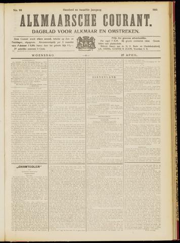 Alkmaarsche Courant 1910-04-27