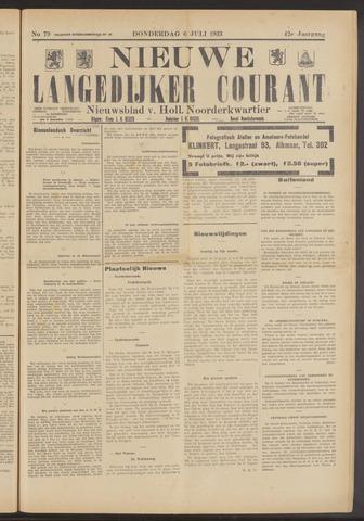 Nieuwe Langedijker Courant 1933-07-06