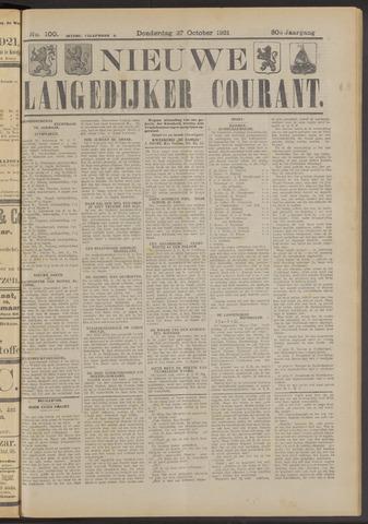 Nieuwe Langedijker Courant 1921-10-27