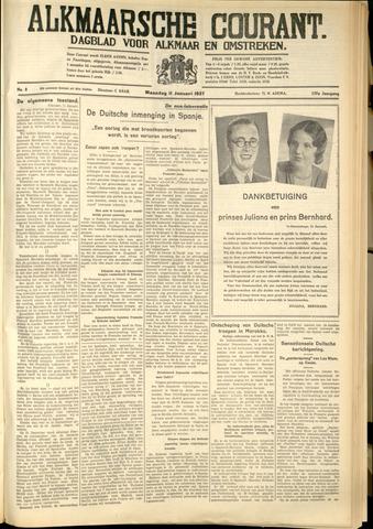 Alkmaarsche Courant 1937-01-11