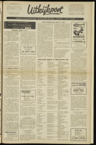 Uitkijkpost : nieuwsblad voor Heiloo e.o. 1962-11-01