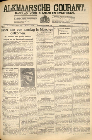 Alkmaarsche Courant 1939-11-09