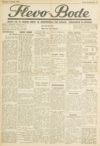 Flevo-bode: nieuwsblad voor Wieringen-Wieringermeer 1948-01-17