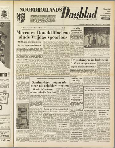 Noordhollands Dagblad : dagblad voor Alkmaar en omgeving 1953-09-17