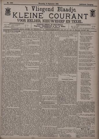 Vliegend blaadje : nieuws- en advertentiebode voor Den Helder 1890-09-10